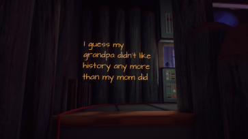 You will be guided around the house by floating text and Edith's narration.