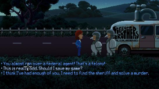 The game is full of fourth wall breaking moments.