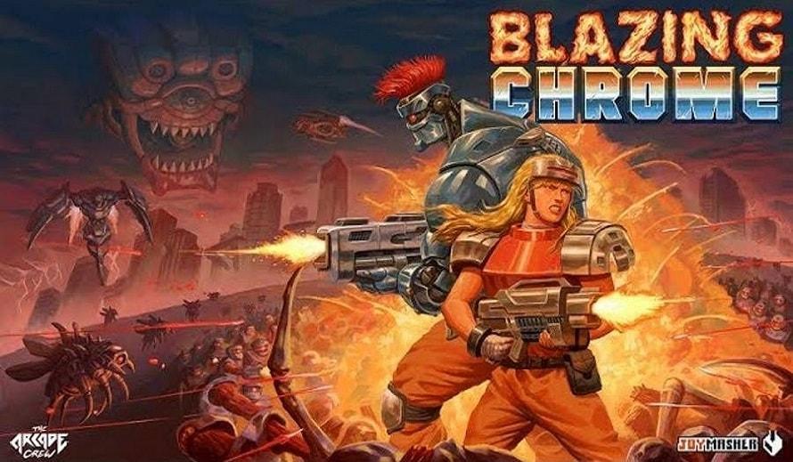 Blazing Chrome Poster