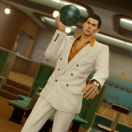 Kiryu is always up for some bowling!